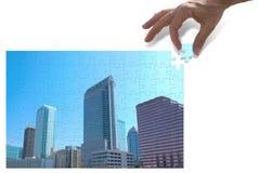 запланирование разработки концепции города урбанское стоковое фото