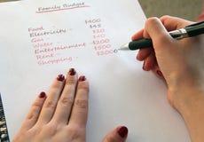Запланирование семейного бюджета Стоковые Изображения
