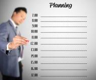 Запланирование чертежа бизнесмена Стоковые Фото