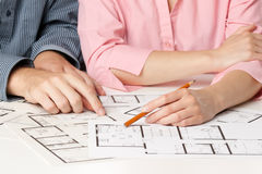 запланирование дома семьи Стоковые Изображения RF