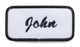 Заплата имени Джона стоковое изображение rf