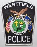 Заплата плеча Управления полиции Westfield в Индиане стоковая фотография rf