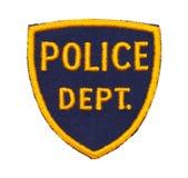 Заплата Dept полиции стоковое изображение rf