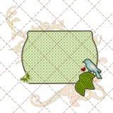 заплатка иллюстраций рамки поздравительой открытки ко дню рождения Стоковое Изображение RF