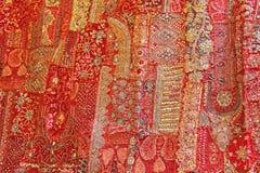Заплатка индия Квадраты Индии покрашенные вышивкой Яркий mu Стоковое Изображение RF