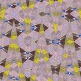 Заплатка картины мозаики треугольников для печати младенца стоковая фотография rf