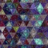 Заплатка милого треугольника фиолетовая, зеленая и белая предпосылки влияния Стоковое фото RF