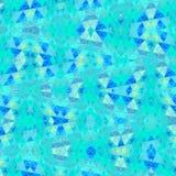 Заплатка треугольников бирюзы светлого - голубой цвет стоковые фотографии rf
