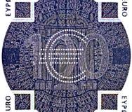 заплаты евро кредитки голографическая 100 одного Стоковые Изображения
