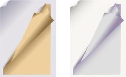 заплетенный бумажный лист иллюстрация вектора