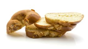 Заплетенный изолированный хлеб Стоковые Изображения