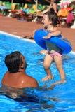 заплывание бассеина потехи Стоковое фото RF