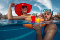 заплывание бассеина потехи Стоковая Фотография RF