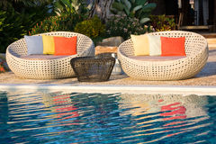 заплывание бассеина тропическое Стоковая Фотография RF