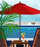 заплывание бассеина тропическое Стоковые Фото