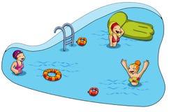 заплывание бассеина Стоковые Фотографии RF