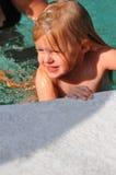 заплывание девушки Стоковое Изображение