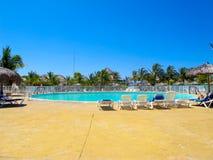 заплывание курорта бассеина Кубы caribbeans Стоковая Фотография