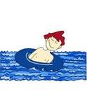 заплывание мальчика Стоковые Изображения RF