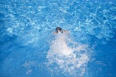 заплывание ребенка Стоковое Изображение RF