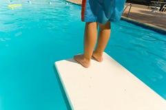 заплывание ребенка Стоковая Фотография
