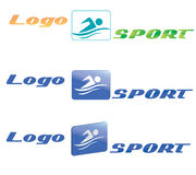 заплывание спорта логоса иллюстрация вектора