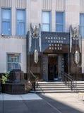 10 заповедей вне здания суда графства в Clarksburg Западной Вирджинии Стоковое фото RF