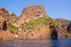 Заповедник Scandola, место всемирного наследия ЮНЕСКО, Корсика, Fr Стоковое Изображение RF