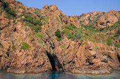 Заповедник Scandola, место всемирного наследия ЮНЕСКО, Корсика, Fr стоковые изображения