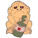 Запойная обезьяна Стоковое фото RF