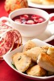 заполированность обеда кухни рождества Стоковое фото RF