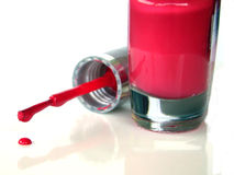 заполированность пинка ногтя падения Стоковые Фотографии RF
