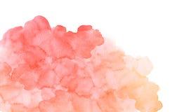 Заполнение акварели конспекта красное оранжевое с напряжениями иллюстрация штока