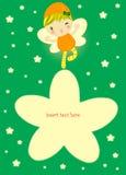 заполнение карточки fairy к Стоковое Изображение
