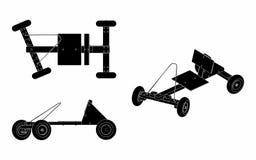 Заполнение черноты автомобиля импровизированной трибуны бесплатная иллюстрация