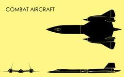 Заполнение черноты боевого самолета бесплатная иллюстрация