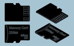 Заполнение черноты SD карточки без плана иллюстрация штока
