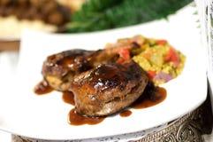заполненная сторона тарелки говядины Стоковые Фото