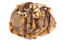 заполненное печенье сливк шоколада bigne миндалины Стоковые Фото