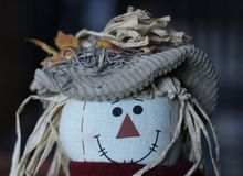 Заполненное чучело с шляпой стоковая фотография rf