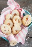 Заполненные вареньем печенья пасхи Стоковое фото RF
