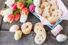Заполненные вареньем печенья пасхи Стоковые Изображения