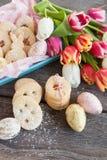 Заполненные вареньем печенья пасхи Стоковое Фото