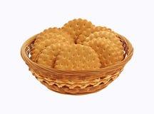 заполненные печенья корзины приправили ваниль Стоковая Фотография RF