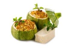 заполненные сыром zucchinis tofu Стоковая Фотография RF