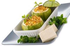 заполненные сыром zucchinis tofu Стоковые Фото