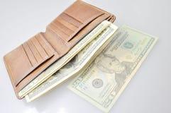 заполненный бумажник usd Стоковое Изображение