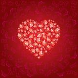 заполненный красный цвет сердца Стоковая Фотография RF