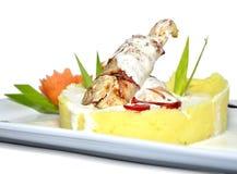 заполненный обед цыпленка Стоковое Изображение