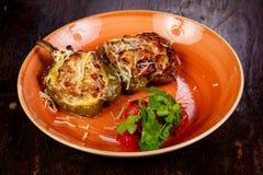 заполненный перец мяса Стоковое Изображение